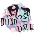 Blind date retro vector image vector image