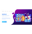 board game concept landing page vector image vector image