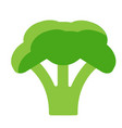broccoli simple art geometric vector image vector image