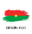 burkina faso watercolor national country flag vector image