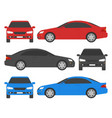 car set isolated automobile in white background vector image
