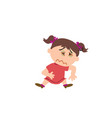 cartoon character of a sick girl vector image vector image