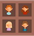 character various boy and girl face avatar vector image vector image