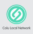 colu local network - crypto currency logo vector image vector image