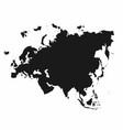 eurasia map monochrome continent icon vector image vector image