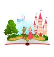 fairy tales book fantasy tale characters magic vector image vector image