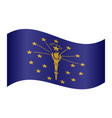 flag of indiana waving on white background vector image vector image