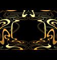 frame with art nouveau ornament vector image vector image