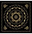 Gold bandana silk scarf vector image vector image