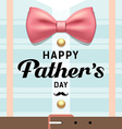 Happy fathers day pink ribbons with blue shirt vector image vector image