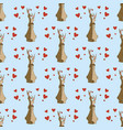 hares in love seamless pattern vector image vector image
