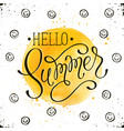 helo summer card vector image