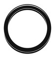 hormonal ring icon simple style vector image vector image