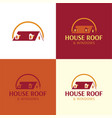 house roand windows logo and icon vector image
