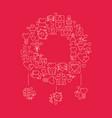 love symbols wreath poster vector image