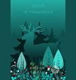 magic deer walking in the forest spirit vector image vector image