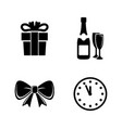 new year simple related icons vector image vector image