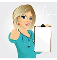 nurse doctor healthcare and medicine vector image vector image