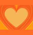 orange valentine heart symbol love vector image