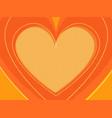 orange valentine heart symbol love vector image
