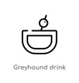 outline greyhound drink icon isolated black vector image vector image