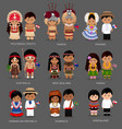 people in national dress australia and oceania vector image