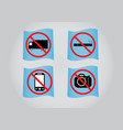 prohibition sign icon vector image vector image