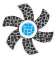 rotor mosaic of squares and circles vector image