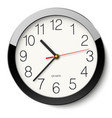 round wall clock without divisions in black vector image vector image