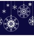 Seamless Christmas balls background vector image vector image