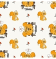 Seamless pattern with loved squirrel vector image vector image