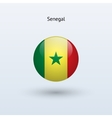 Senegal round flag vector image