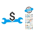 Service Cost Icon With 2017 Year Bonus Pictograms vector image vector image
