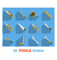 set hand tools vector image