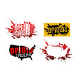 set of opioid addiction grunge designs vector image