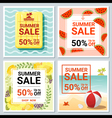 Set of summer sale template banner 2 vector image