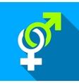 Sexual Symbols Flat Long Shadow Square Icon vector image vector image