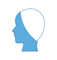 silhouette people profile man character vector image vector image