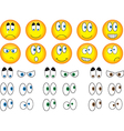 Smiley eyes vector image vector image