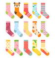 socks set cartoon flat vector image vector image