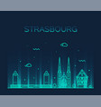 strasbourg city skyline grand est france vector image vector image