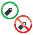 String tag permission signs set vector image vector image