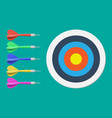 Target and dart arrow goal setting