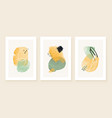 teal and peach abstract watercolor compositions vector image