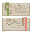 vintage floral horizontal banners vector image vector image