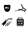 welding equipment set vector image vector image