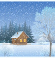 winter landscape with country house vector image