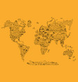 world travel line icons map travel poster with vector image vector image