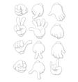 cartoon human hand vector image