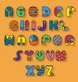 colorful alphabet superhero style vector image
